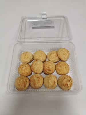Caja de pastas de coco