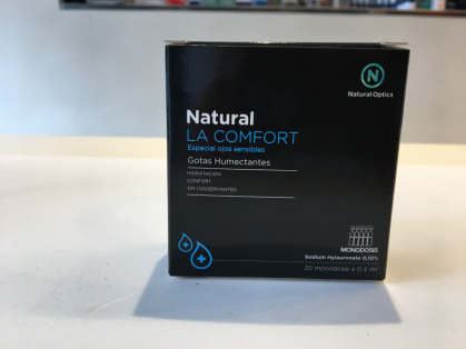 Gotas humectantes Natural la Confort Monodosis (20 ml*0,4 ml)